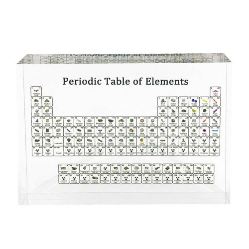Acrylic Periodic Table Display Kids Teaching Tool Home Decoration Crystal Chemical Element Display