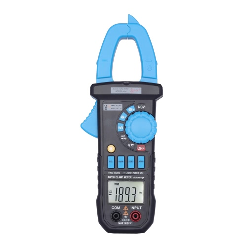 Digital LCD Clamp Meter Multimeter DC/AC Voltage/Current Resistance Capacitance Diode Frequency Measurement Tester NCV Function