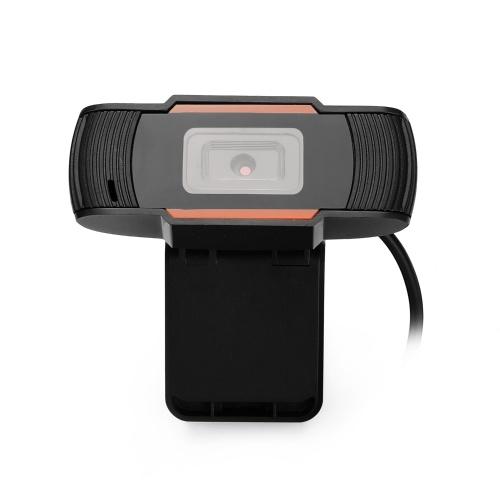 USB Webcam Web-Camera Built-in Sound Gaming Microphone for Online Lesson Desktop Computer Camera