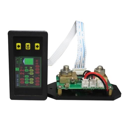 Volt-amperímetro multifunción Instrumento de corriente de voltaje de pantalla LCD de 1,8 pulgadas con función de memoria de apagado