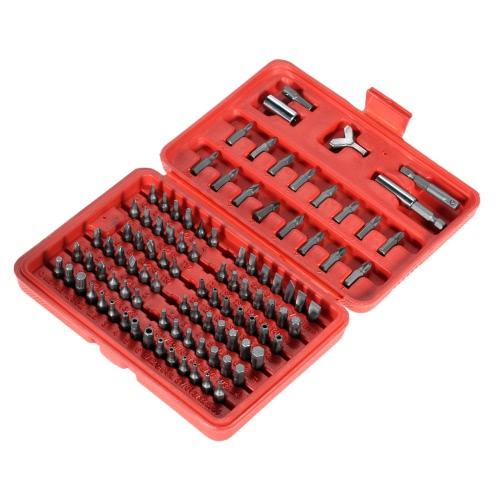 100pcs/conjunto resistente cromo aço Vanadium chave de fenda cabeça conjunto profissional Torx Hex Bit definido com caso