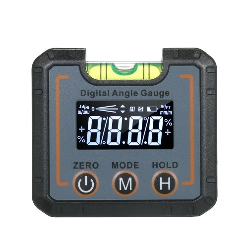 2.7-inch Mini Level Box Digital Level Gauge Angle Finder Inclinometer with Leveling Bubble & V-groove Magnetic Base