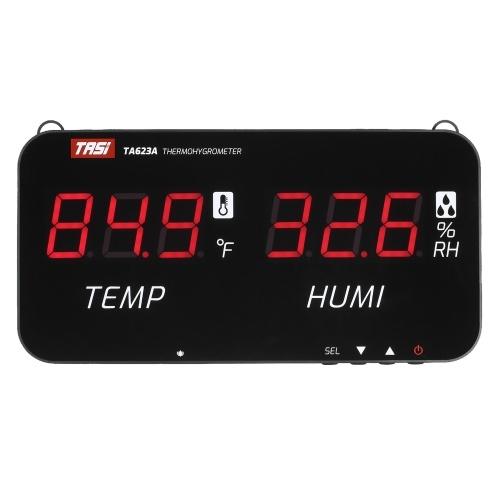 TASI Intelligentes Temperatur-Feuchtigkeitsmessgerät An der Wand montiertes digitales Thermometer-Hygrometer