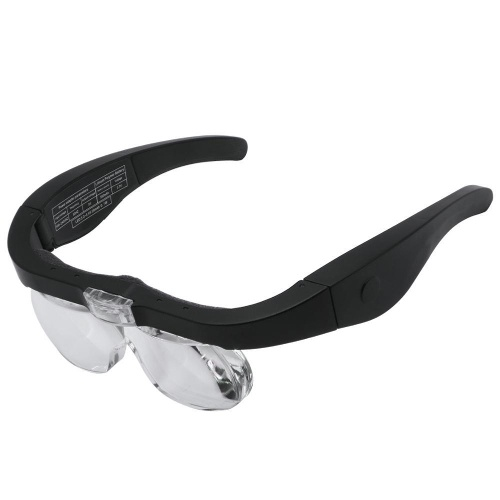 Magnifier Glasses Eye Loupe with LED Lighting USB Rechargeable Magnifying Glass for Jewelers Watchmaker