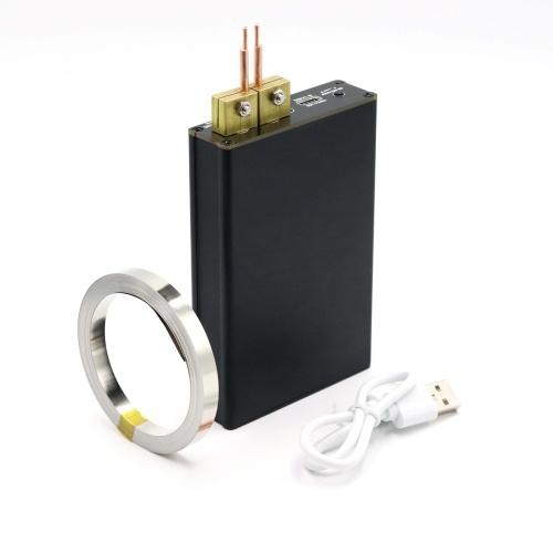 コンパクトなハンドヘルドスポット溶接機ハイパワー3ギア調整可能溶接機、18650バッテリー用3色インジケーターライト付き