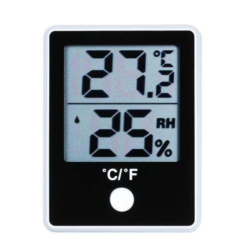 デュアル温度湿度計LCDデジタル室内温度計湿度計磁気温度計湿度計℃/℉切り替え可能な温度湿度計