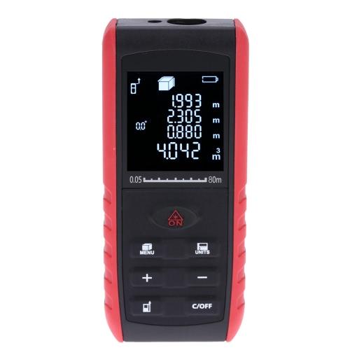 80m Portable Handheld Digital Laser Distance Meter