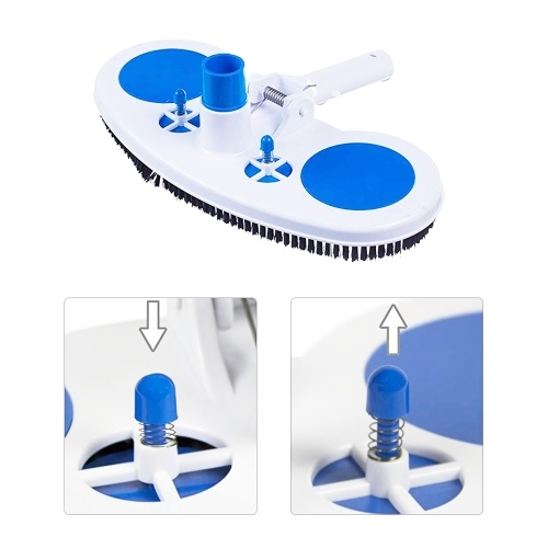 13.5-Inch Pool Vacuum Head Inground Above Ground Vinyl Pool Vacuum Brush Head Spa Vacuum Attachment Cleaning Tool with Weighted Base and Brushes