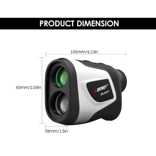 SNDWAY 3~500M High Precision Laser Distance Meter 6X Magnification Outdoor Digital Golf Telescope Laser Ruler Handheld Golf Rangefinder with Golf Trajectory Compensation Flag Pole Lock Function