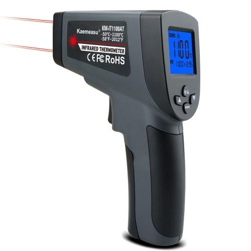 デジタル温度計2つのレーザーライン非接触物体温度測定ツールハンドヘルド℃℉データ保持付きの切り替え可能な測定装置低バッテリーアラーム機能