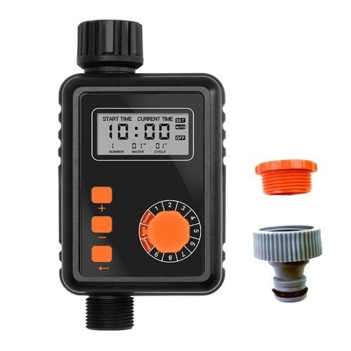 KKmoon電子灌漑レギュレーター大型LCDスクリーン防水スプリンクラーコントローラー付き自動灌漑タイマー