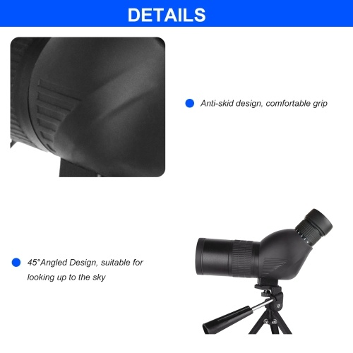 Beileshi Spotting Scope with Tripod HD Monocular Portable 12X-36X Zoom Eyepiece Straight or Angled for Bird Watching, Wildlife, Scenery and Hunting