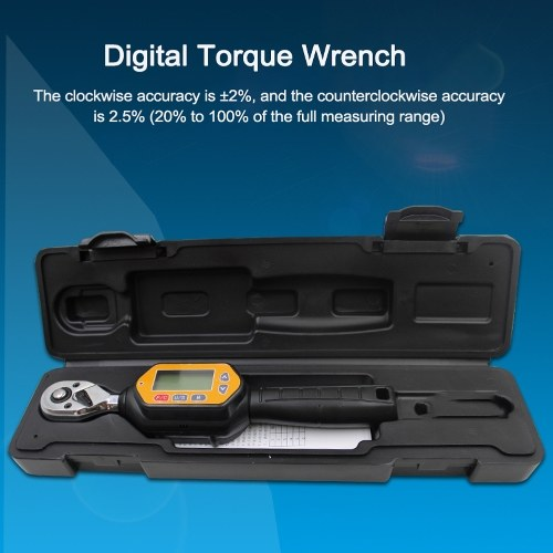 1/4inch 0~30N.m ZWM-30 Portable Mini Digital Torque Wrench Electronic Torque Wrench N.m kgf.cm lbf.tf lbf.in Four Units Available Real-time Mode Pe-ak Mode Preset Mode Measurement Sound Light Alarm Function Bicycle Repairing Utility Tools