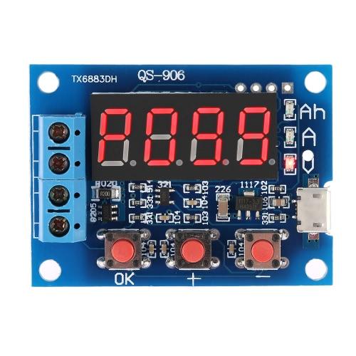 Емкость батареи метр разряда Тестер для 18650 Li-иона лития свинцово-кислотный аккумулятор 1V-15V