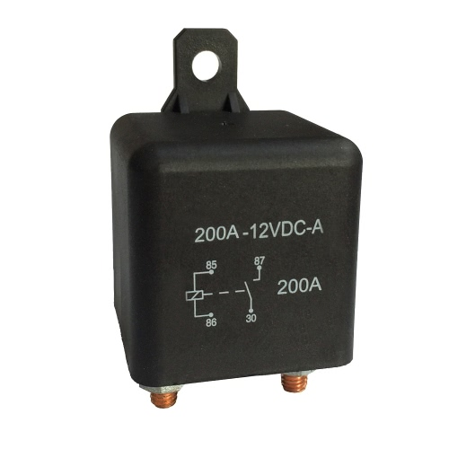 Heavy High Current 12VDC 200A AMP 2.4W Continuous Work 4 Pins Car Truck Auto Automotive On Off Start Relay Switch Fixing Hole for Large Motor