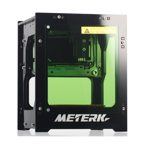 Meterk DK-BL 1500mW Mini DIY Laser Engraving Machine Wireless Bluetooth Print Engraver Bluetooth 4.0 for iOS/Android USB Connection for PC Rapid Speed--3 Months Warranty
