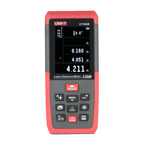 UNI-T UT396B 120m / 394ftハンドヘルドLCDデジタル距離計距離計距離計距離エリア音量測定m / in / ft 2.0MPカメラ自己較正