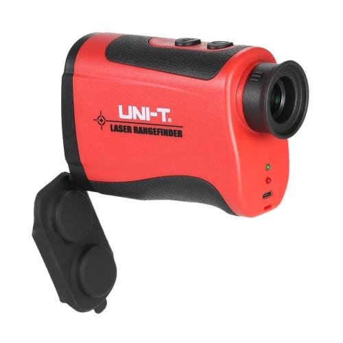 UNI-T LR600 600m/656yd Handheld Monocular Laser Range Finder 6X Telescope Distance Meter Outdoor Rangefinder Golf Hunting