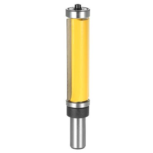 """1/2 """"Shank Pattern Flush Trim Router Бит 2-1 / 2"""" Инструмент для резки верхнего и нижнего подшипника Плотник Деревообрабатывающий инструмент"""