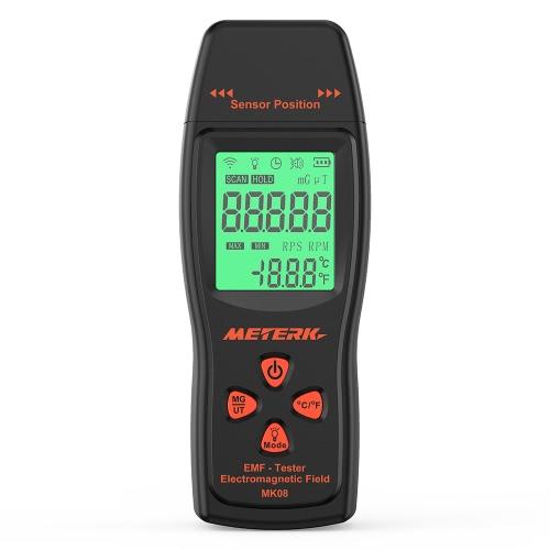Meterk EMFメーターハンドヘルドミニデジタルLCD EMF検出器電磁界放射テスターDosimeterテスターカウンター