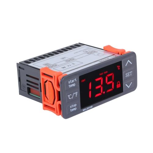 Contrôleur de température LED numérique AC220V Touches tactiles ° C / ° F Thermostat de chauffage et de refroidissement 10A 1 Relais avec capteur NTC