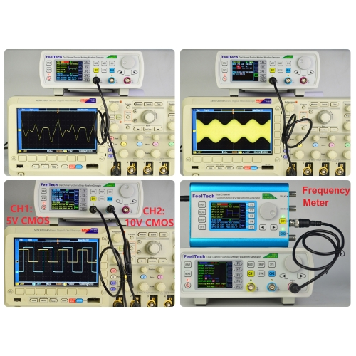 High Precision Digital DDS Dual-channel Function Signal/Arbitrary Generator 250MSa/s 8192*14bits Frequency Meter VCO Burst AM/PM/F