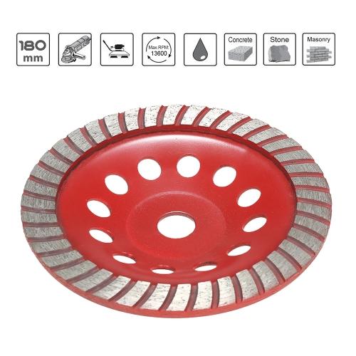 180mm 7 Diamond Segment Grinding Wheel Disc Bowl Shape Grinder Cup 22mm Inner Hole for Concrete Granite Masonry Stone Ceramics Te
