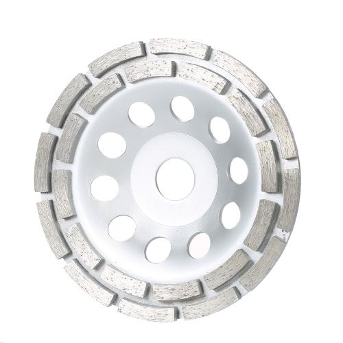 """150 mm 6 """"Disco diamantato a 2 segmenti Disco a tazza a tazza con tazza per smerigliatrice 20mm Foro interno per cemento Granito Muratura in pietra Ceramica Terrazzo Industria del marmo"""