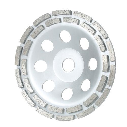 """150mm 6 """"ダイヤモンド2行セグメント砥石ディスクボウルシェイプグラインダーカップコンクリート用グラナイト石積み石のセラミックスのための内側の穴Terrazzo大理石の建物産業"""