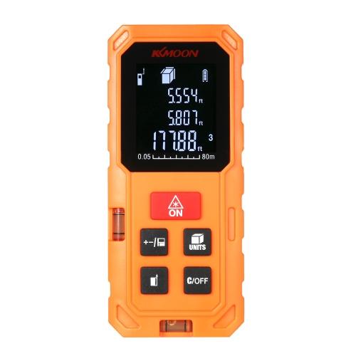 KKmoon 80mポータブルハンドヘルドデジタルレーザー距離計高精度距離ファインダー長領域体積測定VTN LCDによる20グループデータストレージ