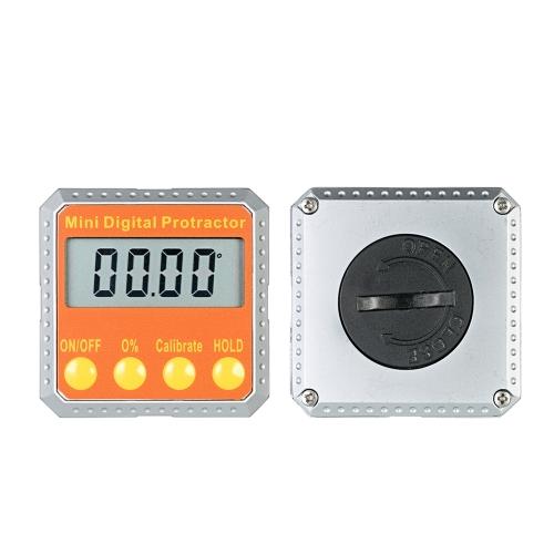 Mini Digital Protractor Level / Bevel Gauge / Angle Gauge / Angle Finder com ímãs embutidos
