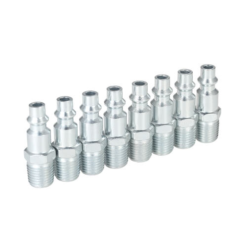 "12pcs 1/4 ""NPT Réglable Coupleurs Rapides Plugs Set Industrial Air Hose Connectors Set"