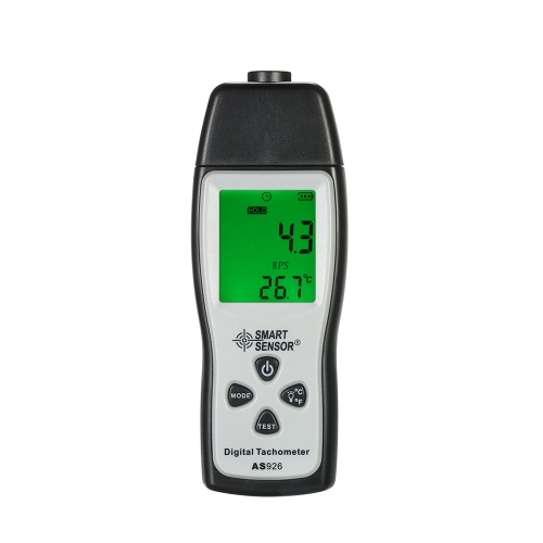 SENSOR INTELIGENTE Tacómetro de Fotografia Digital Portátil Profissional Laser sem contato Tach Range 100RPM-30000RPM LCD Display Motor Speed Meter com 3pcs Reflective Tape