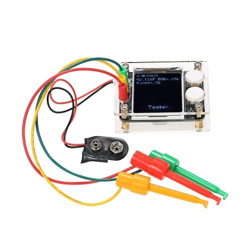 """Multifonctionnel 1.8 """"TFT LCD GeekTeches MK328 Transistor Testeur Diode Capacité ESR Tension Fréquence Mètre SMT À Souder"""