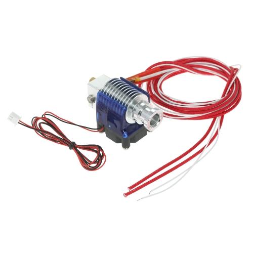 E3D V6 J-head Hotend Kit da 0,4 mm Ugello 1,75 mm Filamento per testina di estrusione della stampante Bowden / RepRap 3D