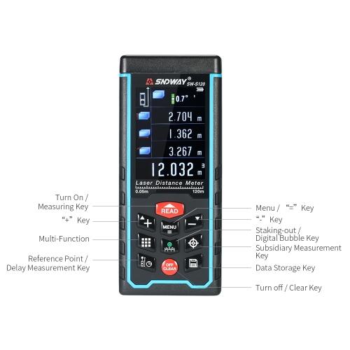 120m Mini Handheld LCD Digital Laser Distance Meter