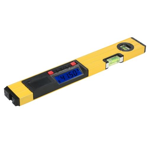 400mm Numérique Laser Mesure I-Beam Niveau à bulle Niveau Angle Jauge Niveau Torpedo avec Base Magnétique Rétroéclairage LCD