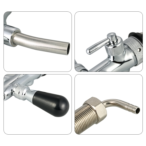 Adjustable Flow Control Chrome Draft Beer Faucet Tap