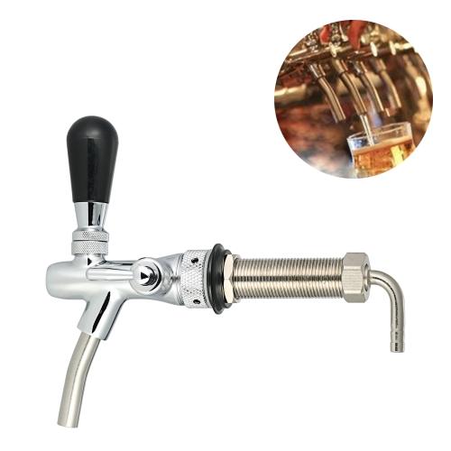 Adjustable Flow Control Chrome Draft Beer Faucet Tap
