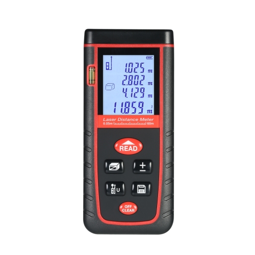 40mミニハンドヘルドLCDデジタルレーザー距離計高精度レンジファインダー距離エリアボリューム測定30グループデータストレージ
