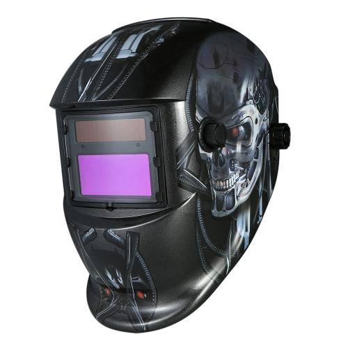 Przemysłowy hełm spawalniczy Samościemniający kask spawalniczy Solar Power TIG MIG Terminator Design