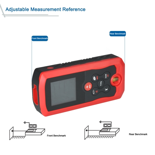 70m Mini Hand-held LCD Digital Laser Distance Meter Range Finder Distance Area Volume Measurement 10 Groups Data Storage