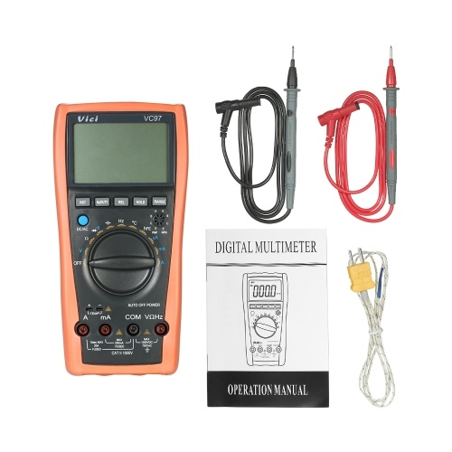 Multimetro digitale LCD Vici multimetro Gamma automatica DMM con rilevatore di temperatura Corrente di tensione CA CC Misuratore di capacità Resistenza diodi Tester