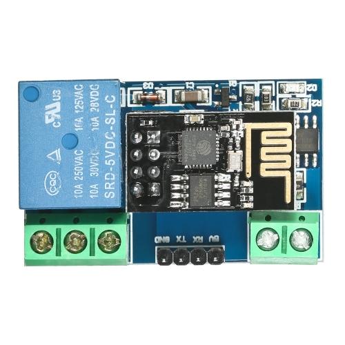 Tarjeta de módulo de relé Wi-Fi ESP8266 5V IOT Control remoto de casa inteligente móvil Control de la aplicación