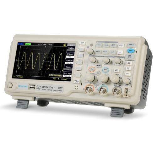 Misuratore di portata dell'oscilloscopio digitale GA1062CAL 2CH 60 MHz Larghezza di banda 8 bit 1GSa / s Frequenza di campionamento