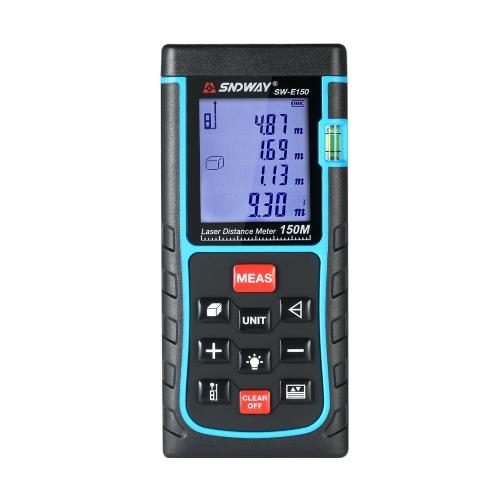 ミニハンドヘルドLCDデジタルレーザー距離計距離ファインダー距離エリア音量測定100グループデータ保存