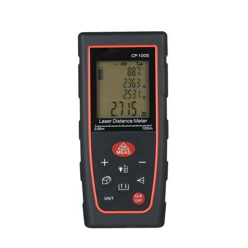 Portable Handheld LCD Digital Laser Distance Meter Area Volume Measurement Tool High Precision ±2mm Accuracy Range Finder Measuring Data Storage with Backlight