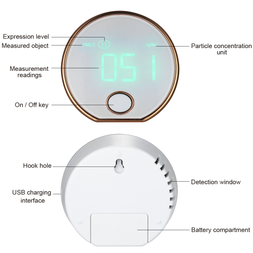 Купить Mini Portable High Precision Indoor Haze Dust Pm2.5 Air Monitor