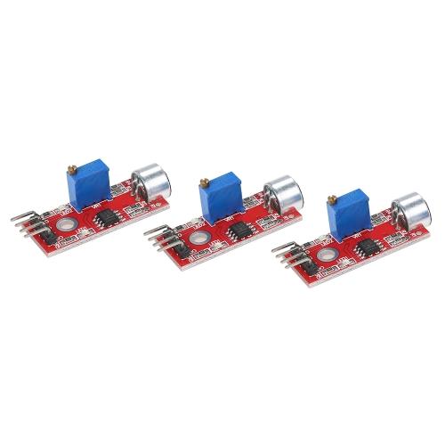 3 pcs Mini Alta Sensibilidade Microfone Sensor de Som Módulo Módulo de Detecção De Sensor De Voz Para Arduino