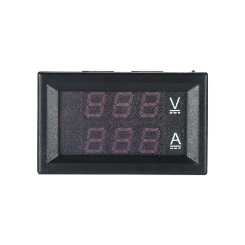 LED DC0 ~ 100V 10A Voltmetro digitale Amperometro Rosso / Blu Dual Display a colori Voltage e Ampere Meter Volt Amp Gauge Panel